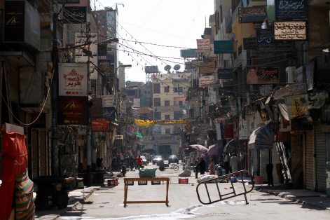 The quite city, Friday 30th of August morning as people were afraid from expected violence between the MB and the security forces.