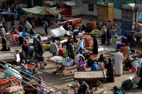 Saturday largest market in the city is weak since the events erupted.